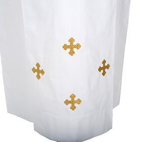 Alba blanca de lana cruces decoradas s2