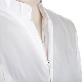 Alba blanca de lana cruces decoradas s5