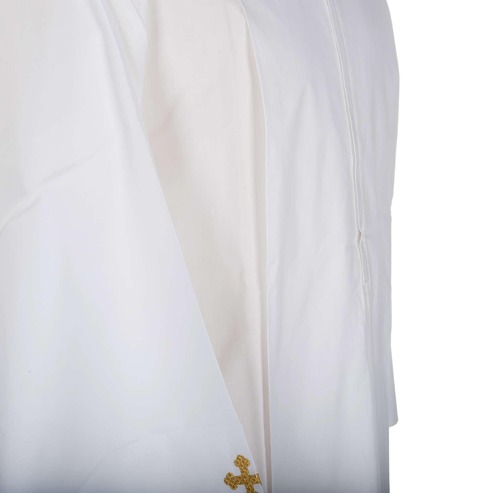 Camice bianco lana croci decorate 4