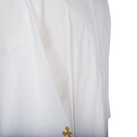 Camice bianco lana croci decorate s3
