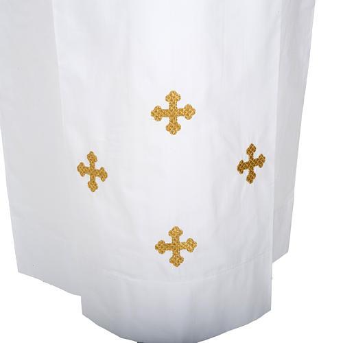 Camice bianco lana croci decorate 2