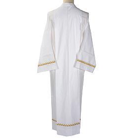Camice bianco lana decori dorati s4