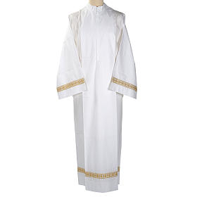 Camice bianco lana decori torciglioni s1