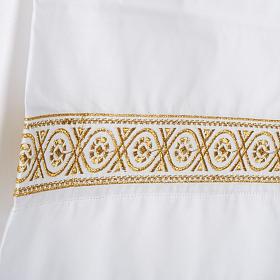 Camice bianco lana decori torciglioni s2