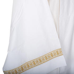 Camice bianco lana decori torciglioni s4