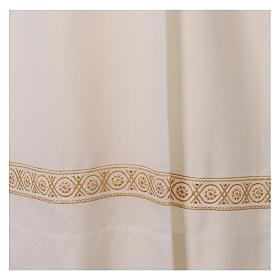 Camice bianco lana decori torciglioni s5