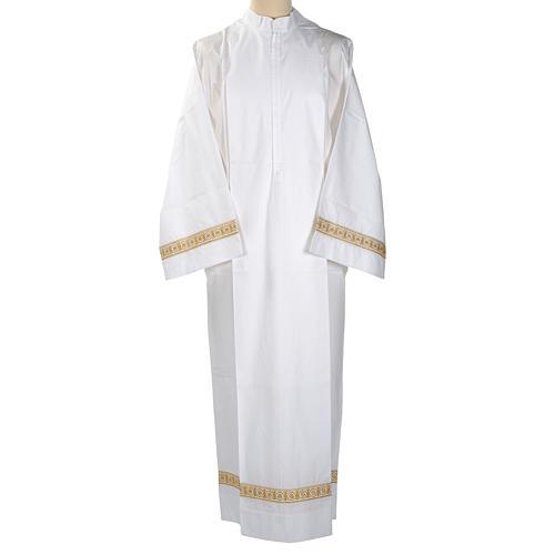 Camice bianco lana decori torciglioni 1