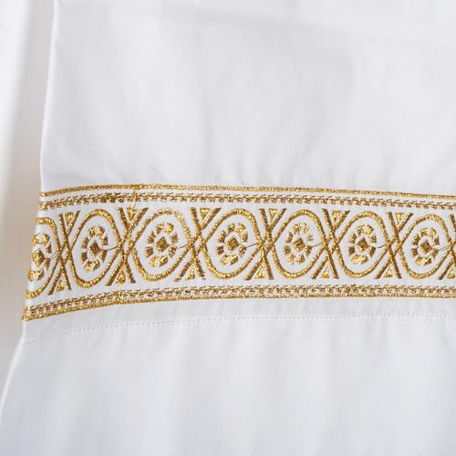 Camice bianco lana decori torciglioni 2