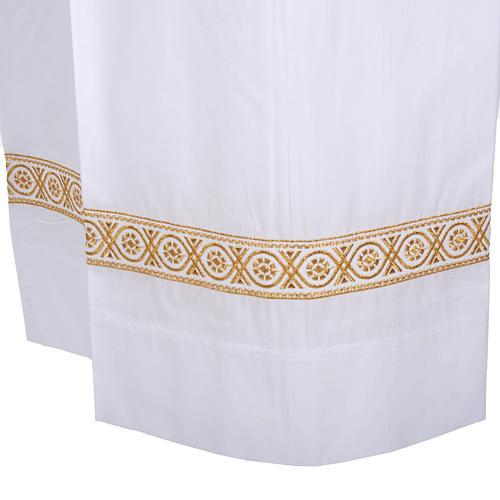 Camice bianco lana decori torciglioni 3