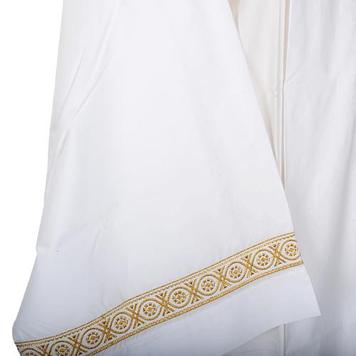 Camice bianco lana decori torciglioni 4