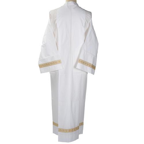 Camice bianco lana decori torciglioni 5