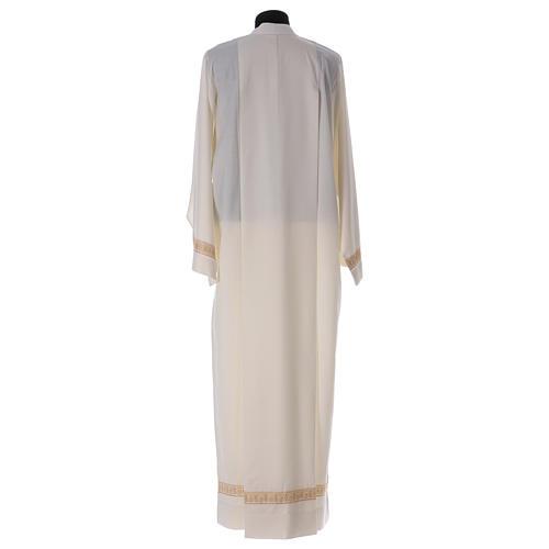 Camice bianco lana decori torciglioni 6