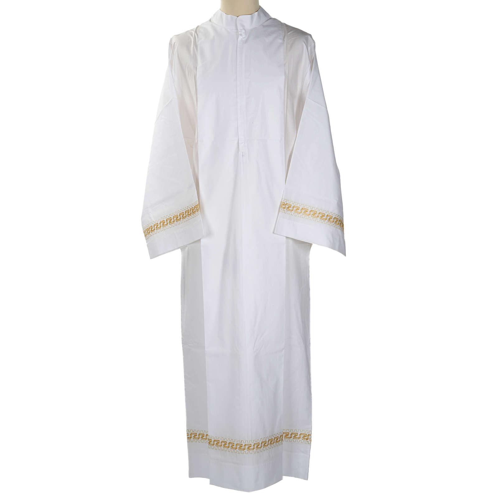 Camice bianco lana decori torciglioni dorati 4