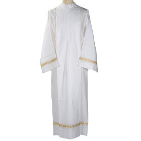 Camice bianco lana decori torciglioni dorati s1
