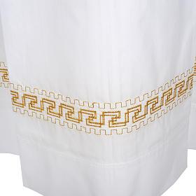 Camice bianco lana decori torciglioni dorati s3