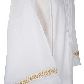 Camice bianco lana decori torciglioni dorati s4