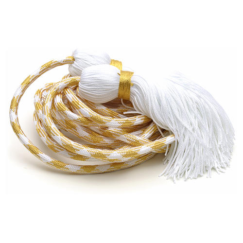 Cíngulo sacerdotal color dorado 4