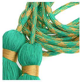 Zingulum für Ministranten grün und golden s6