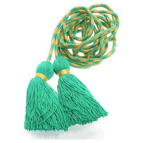 Zingulum für Ministranten grün und golden 3