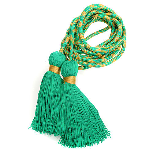 Alb cincture, green and gold color 5