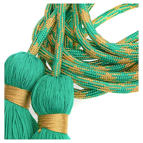 Alb cincture, green and gold color 2