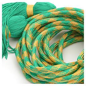 Cordon d'aube vert or s4