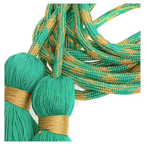 Cingolo sacerdotale color verde oro 2