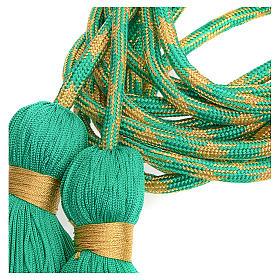Cingulum kapłańskie kolor zielonozłoty s2