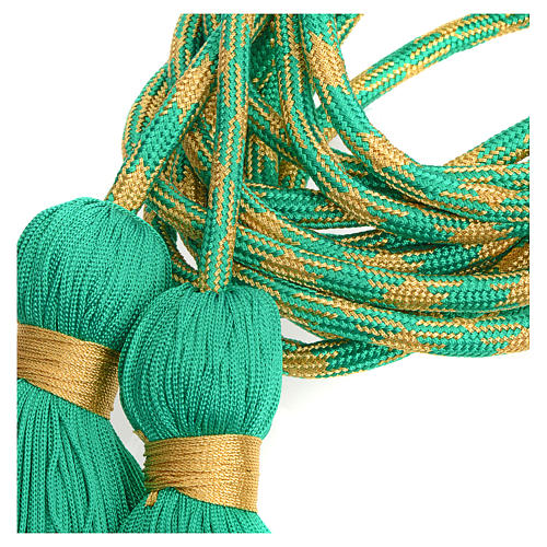 Alb cincture, green and gold color 6