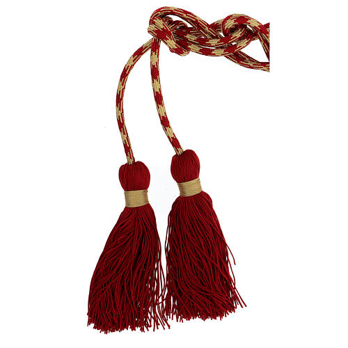 Alb cincture, red and gold color 2