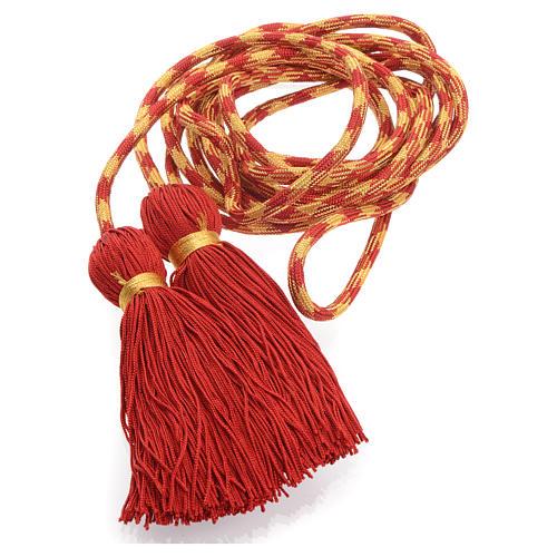 Cíngolo sacerdotal color rojo y dorado 1