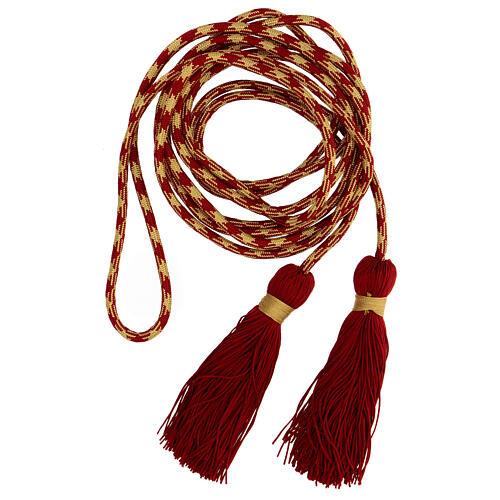 Cingolo sacerdotale color rosso oro 1