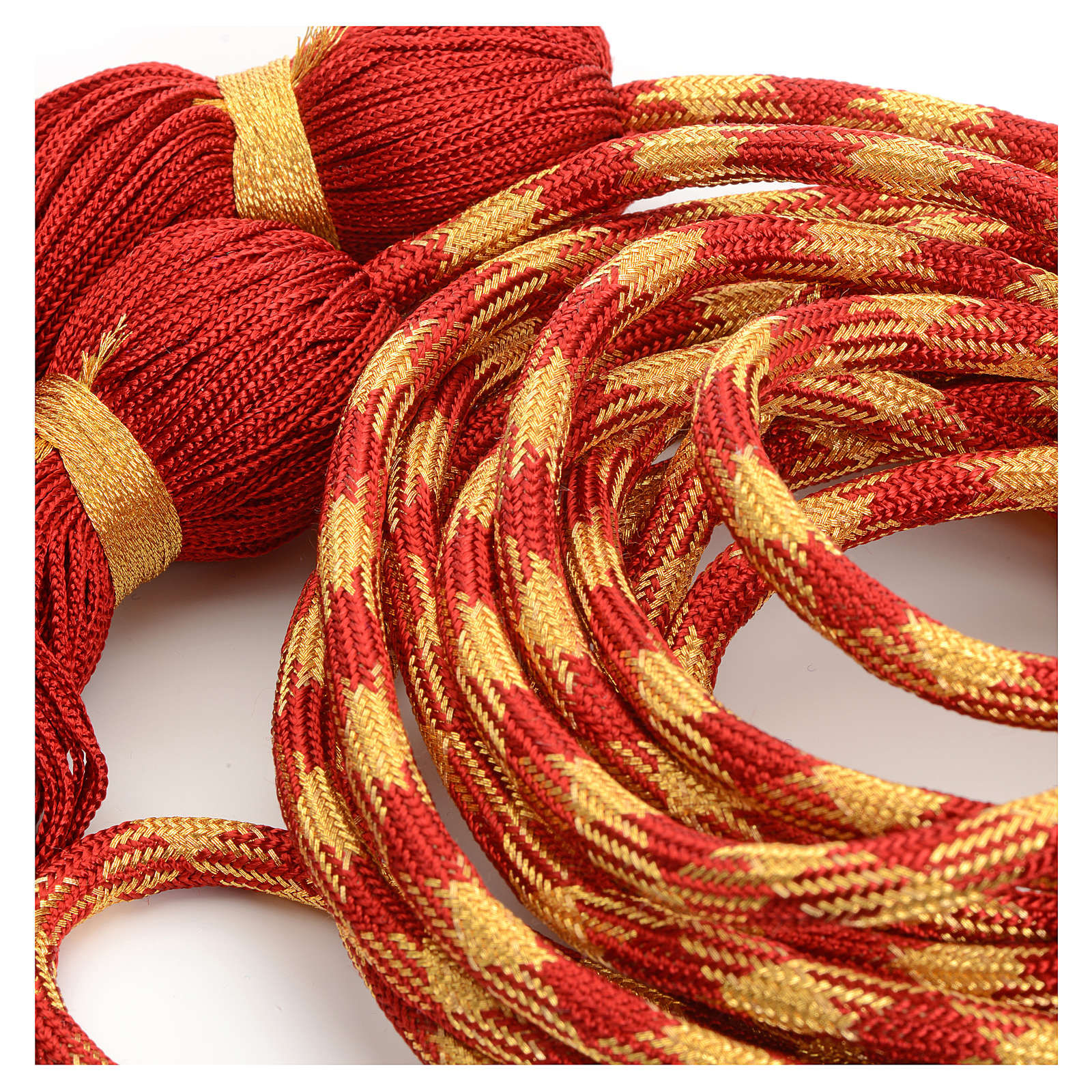 Alb cincture, red and gold color 4