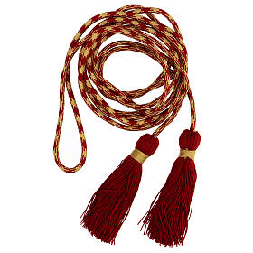 Alb cincture, red and gold color s1