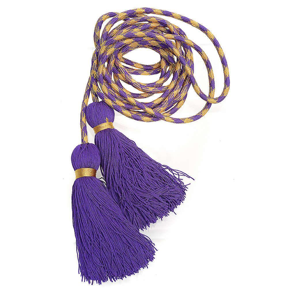 Zingulum für Ministranten violett und golden 4