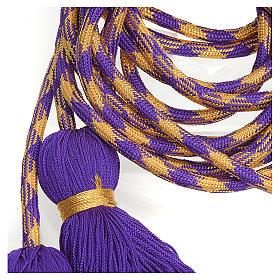 Cingolo sacerdotale color viola oro s2