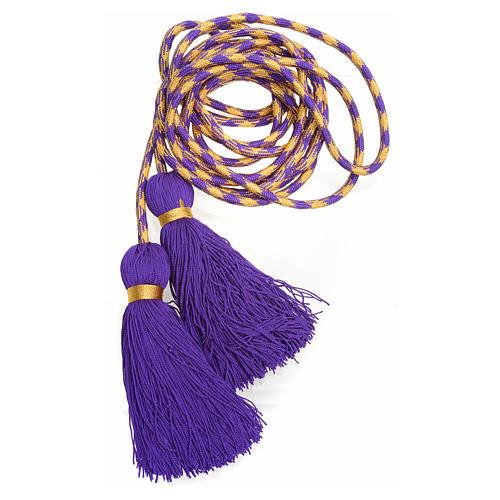 Cingolo sacerdotale color viola oro 3