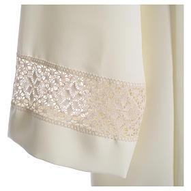 Camice avorio 100% poliestere decori su manica tramezzo merletto s3