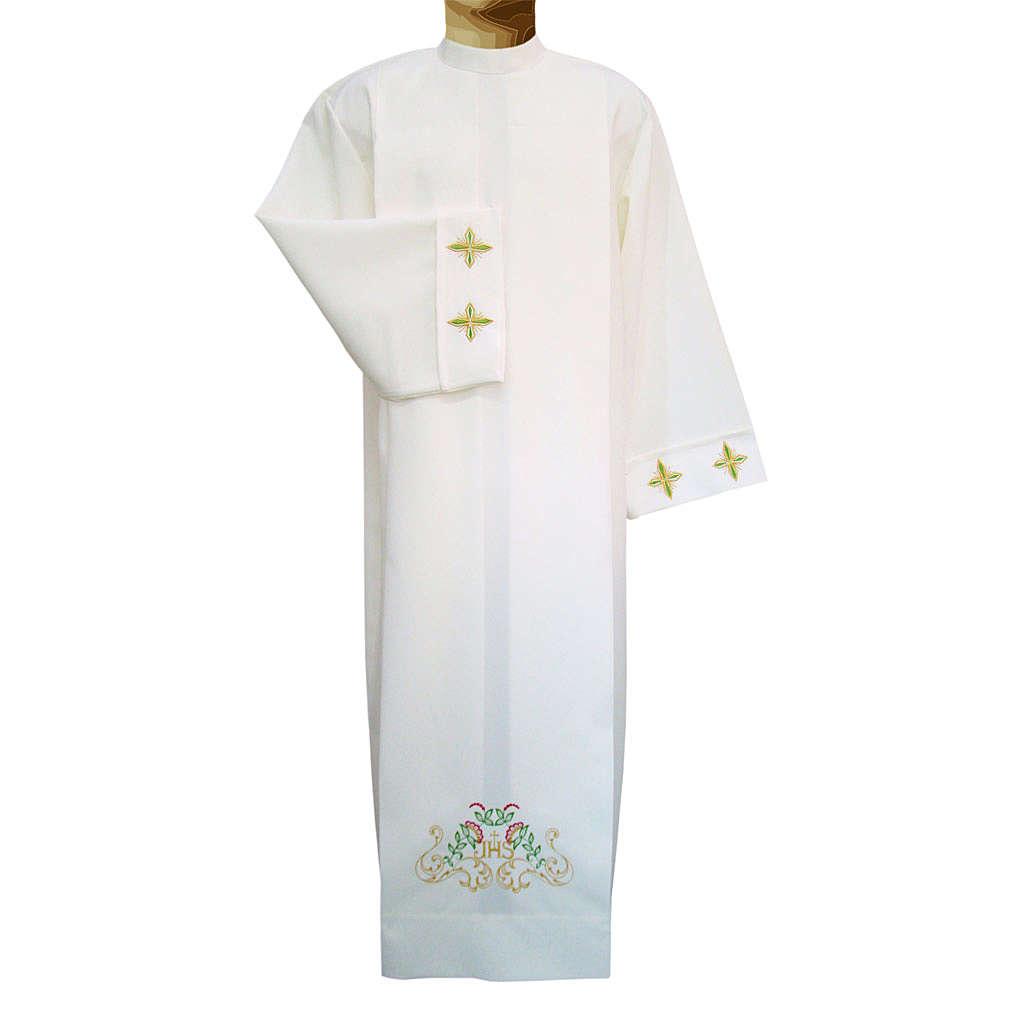 Alba marfil 100% poliéster cruces decoración flora 4