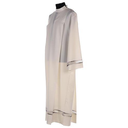 Camice avorio 55% poliestere 45% lana con gigliuccio RICAMO MANO 3