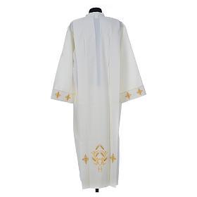Aube liturgique ivoire croix et épis 100% polyester s2