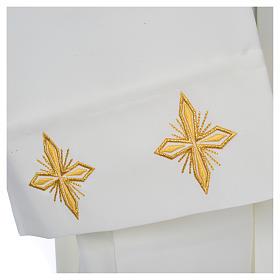 Aube liturgique ivoire croix et épis 100% polyester s4