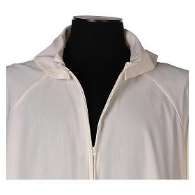 Alba marfil 65% poliéster 35% algodón falsa capucha s2