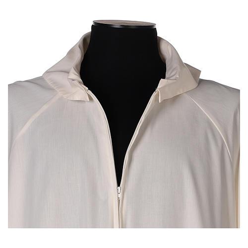 Alba marfil 65% poliéster 35% algodón falsa capucha 2