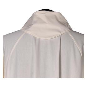 Aube liturgique ivoire évasée faux capuche 65% pol s4