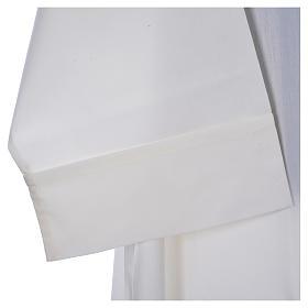 Camice avorio 65% pol. 35% cotone semplice cerniera davanti s4