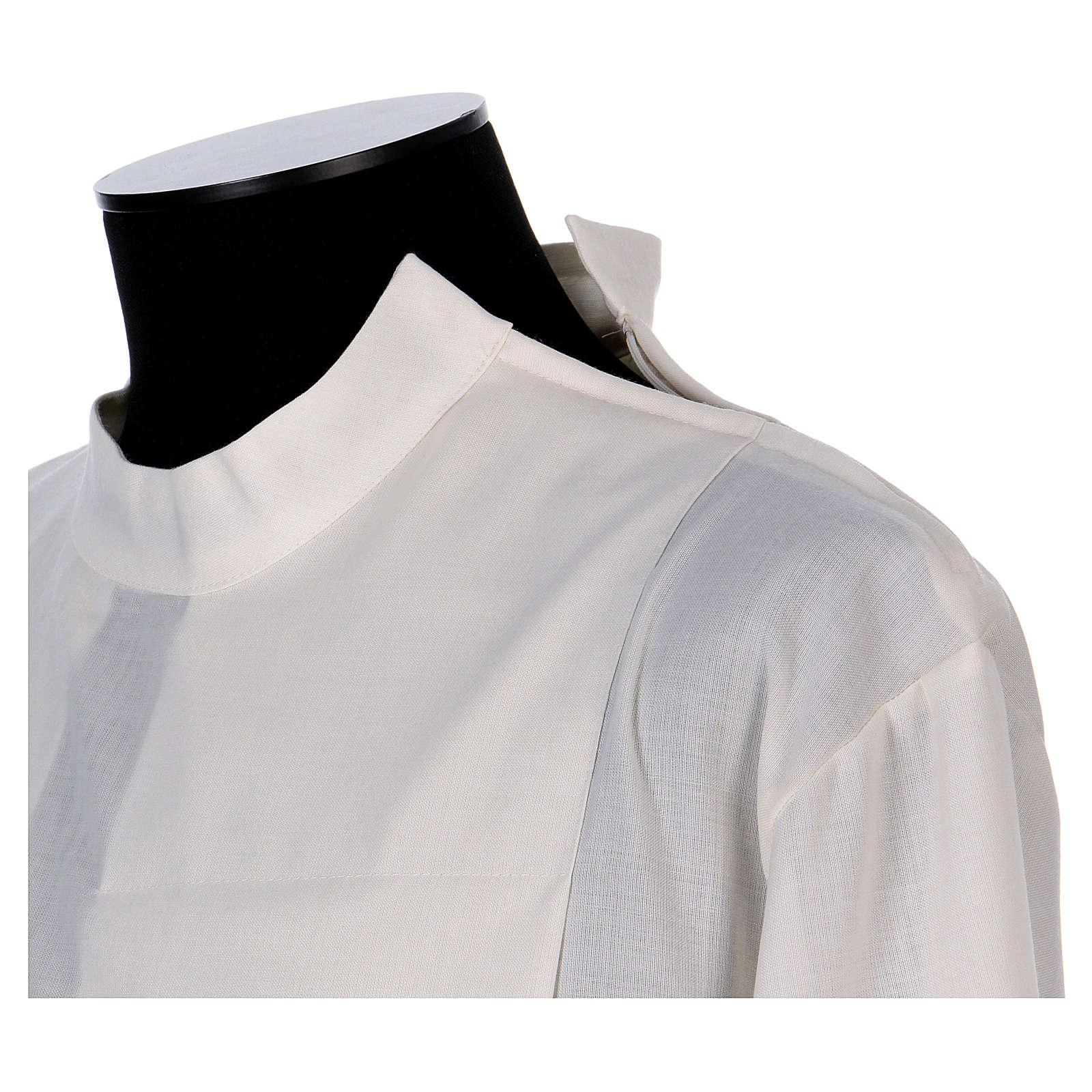 Camice avorio 55% poliestere 45% lana con doppio ritorto stoffa 4