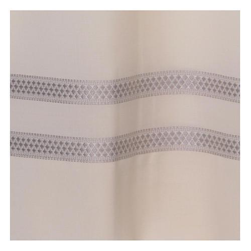 Camice avorio 55% poliestere 45% lana con doppio ritorto stoffa 2