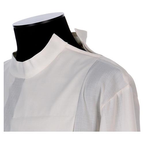 Camice avorio 55% poliestere 45% lana con doppio ritorto stoffa 3