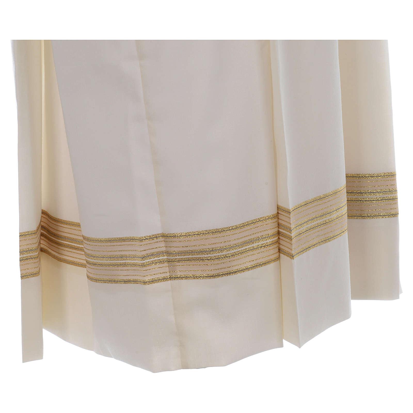 Camice avorio 55% pol. 45% lana doppio ritorto e stoffa tramata 4